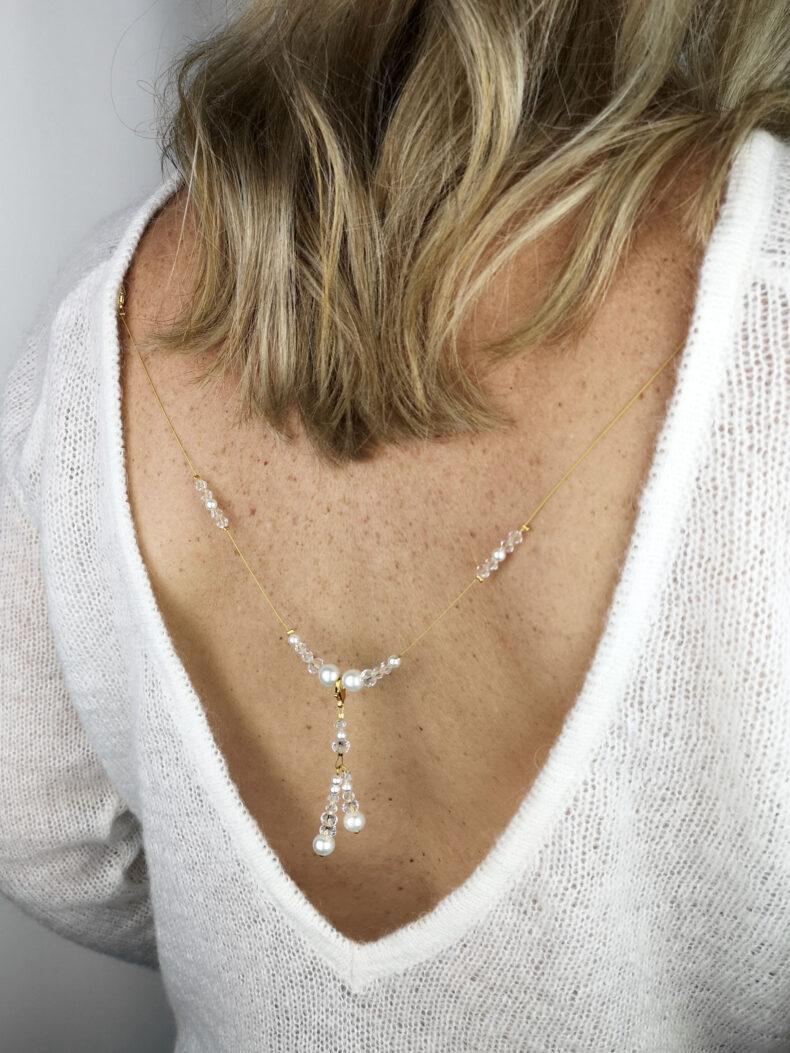 #short charm - pearl