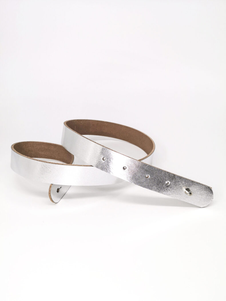 #leather belt silver